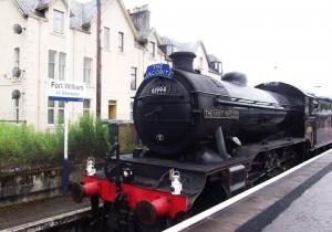 Eine Dampfbahn in Schottland